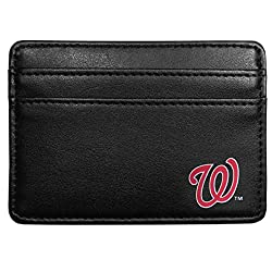 MLB Washington Nationals Leather Weekend Wallet, Black