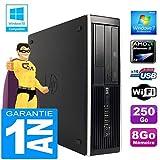HP PC Compaq 6005 Pro SFF AMD Phenom II Ram 8Go Disque 250Go Graveur DVD Wifi W7