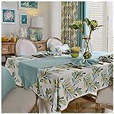XIUXIU Mode botanische Tischdecke rechteckige Stoff Baumwolle Leinen Tischdecke (10 Größen verfügbar) (Größe : 130X190CM)