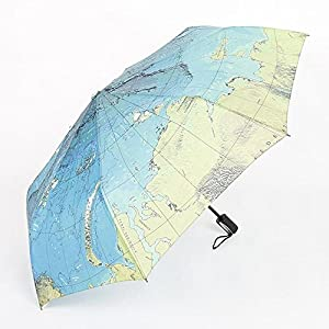 BiuTeFang Paraguas Mapa paraguas paraguas plegable carta mundial paraguas paraguas paraguas pegamento plata protección UV 98x55cm