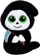 Carletto Ty 41127 - Grimm - Fantasma con falce e occhi brillanti, 15 cm, Glubschi's, Beanie Boo's, Halloween limitato - Originale di Glubsch's - Beanie Boo's - Halloween limitato - Collezione - Oltre 40 diversi design