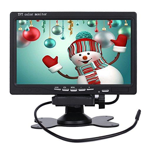 ETiME 7 Zoll TFT LCD Digital Auto View Monitor unterstützt 1080P Video + Fernbedienung für Auto KFZ Rückfahrkamera Einparkhilfe, Auto-DVD, VCD und anderen Videogeräten
