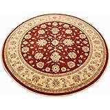 Runder Orientteppich Ziegler ca. 305 cm Ø Rot - feine Qualität - moderner Teppich - oriental round carpet Zigler best quality