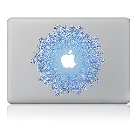 Cinlla® Blau Mandala Laptop AufKleber Notebook Schutzfolie Haut aus Vinyl Skin Sticker Decal für Apple Macbook Air 11