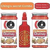 Ching's Secret Combo of Schezwan Chutney X 2 and Badnaam Chutney X 1 (Pack of 3)