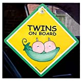 Twins On Board Car Sign, Twins Car Sign, Twins Peapod Car Sign, Twins In Car Sign, Car Sign, Bumper Sticker, Baby on Board, Driving Sign, Automobile Sign, Vehicle Sign, Joke Car Sign, I Want That Sign