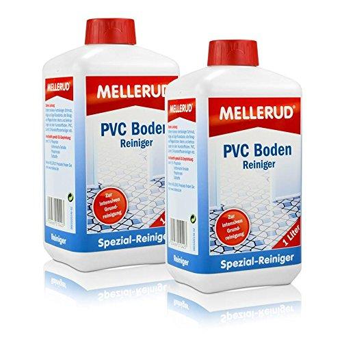 Preisvergleich Produktbild 2X MELLERUD PVC Boden Reiniger 1,0 Liter Kunststoff Gummi Linoleum Vinyl