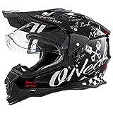 O'Neal Sierra II Helm Moto XXX Torment Schwarz Weiß Motorrad MX Motocross Enduro Cross Offroad, 0817-60, Größe M