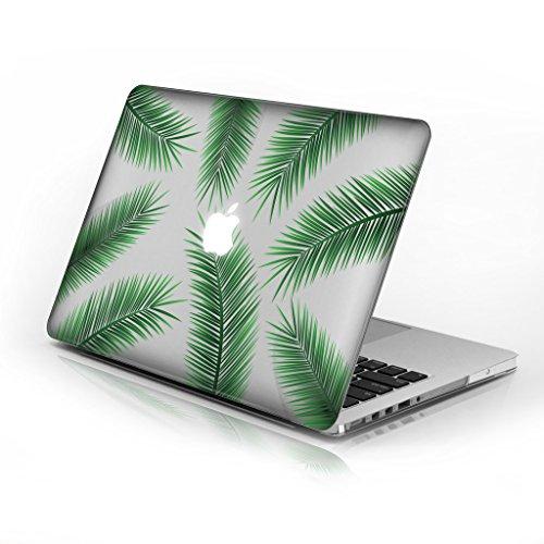für MacBook Air 33cm Modellnummer A1369und A1466, Series 6Design mit klarer unten Fall, kommen mit Tastatur Cover Palm Tree Leaves 33 cm (13 Zoll) ()