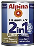 ALPINA 2in1 Buntlack & Grundierung 500 ml Silbergrau RAL 7001, glänzend