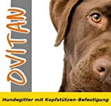 OVITAN Hundegitter fürs Auto 8 Streben universal zur Befestigung an den Kopfstützen der Vordersitze – für alle Automarken geeignet – Modell: V08 - 6