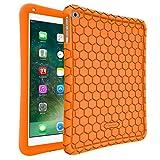 Fintie Silikon Hülle für iPad 9.7 Zoll 2018 2017 / iPad Air 2 / iPad Air - [Bienenstock Serie] Leichte Rutschfeste Stoßfeste Schutzhülle Tasche Case Cover, Orange