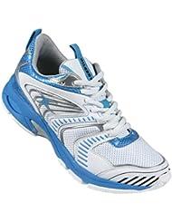Elite - Chaussures de Netball - Blanc/Bleu
