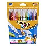 BIC KIDS Zauber-Fasermaler MAGIC, Strichstärke 0,8mm,12-farbig sortiert, Kartonetui à 12 Stück