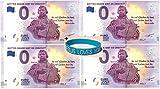0 Euro Schein 4`er Set  Gottes Gnade Gibt es Umsonst  mit Martin Luther Plus 1 Armband Jesus Loves You