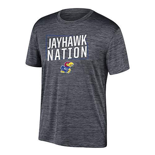eLITe Top of The World Herren T-Shirt NCAA Poly Space Dye Invader, Herren, Men's Poly Space Dye Invader Tee, schwarz, X-Large - Dye Herren T-shirt