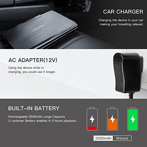 """APEMAN 7,5"""" Tragbarer DVD-Player mit 4 Stunden Akku Drehbarem Display Unterstützt SD-Karte USB AV OUT/IN Spiele-Joystick - 5"""