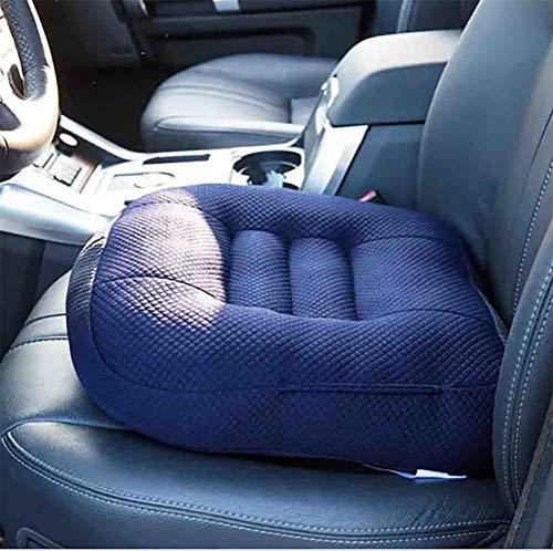 Aufblasbare Matratze Memory-schaum (PPWYY Autositz Kissen Keilkissen Kindersitzerhöhung, Memory Schaum Orthopädisch Comfort Cushion für Auto, Büro- & Rollstuhl Sowie Reisen,Blue)