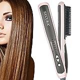 Secura Peine para enderezar cabello con elementos de calentamiento de cerámica PTC y 6 niveles de control de temperatura - Modelo: SC-6L