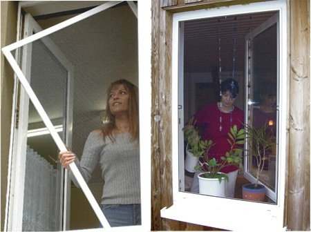 Universal Insektenschutzfenster-895530, schwarz, 100 x 100 x 30 cm, US895530