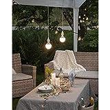 Kamaca Outdoor LED Kerzen im 3er Set batteriebetrieben inkl. Timer Kerze flackernd für Innen und Außen Bereich Outdoor (3er Set Outdoor Kerzen Weiss) - 4