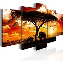 200x100 ! FORMATO GRANDE + Impresion en calidad fotografica + 5 partes + Africa + cuadro 051378 + 200x100 cm +++ GRAN VARIEDAD DE CUADROS Y IMPRESOS ARTÍSTICOS EN NUESTRA TIENDA VIRTUAL +++