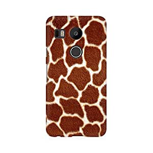 RAYITE Tiger Fur Pattern Premium Printed Mobile Back Case Cover For LG Nexus 5X