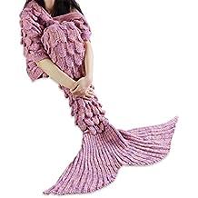 iiniim Meerjungfrau Schwanz Gestrickte Decke Schlafsack Blanket Decke für Mädchen Damen