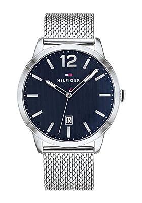 Tommy Hilfiger Reloj Analógico para Hombre de Cuarzo con Correa en Acero Inoxidable 1791500