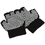 TOOGOO(R) Simple Yoga Fingerless Non Anti Slip Grip Gloves Sport Exercise Equipment