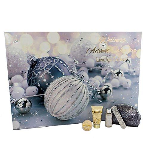 Accentra Beauty Adventskalender für Frauen inkl. Kosmetiktasche - Wellness Weihnachtskalender für Damen mit 24 Pflegeprodukten