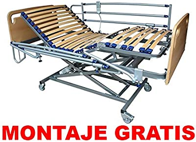 Cama Articulada Eléctrica + Carro Elevador / MONTAJE GRATIS
