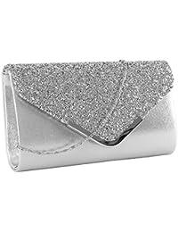 5403e765eb4fc elfishjp Damen Clutch Glitzer Elegant Abendtasche Glänzend Handtasche Tasche  Umhängetasche Klein in Gold