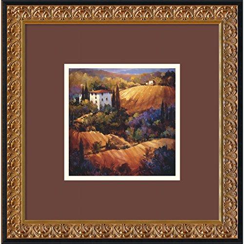 Evening Glow Toscana Framed Art da Nancy O' Toole-18.23W x 18.23h in.