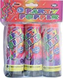 3 x CANNON TWIST CONFETTI PARTY POPPERS - 11.5cm - FREE DELIVERY