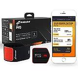 PIQ BTENNIS1 Tennis Set, sensore agganciabile con fascia da polso, analizzatore dati, collegamento in wireless, compatibile iOS e Android, Nero/Rosso