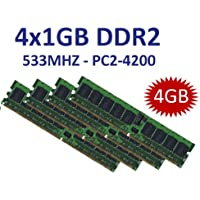 4 GB Dual Channel Kit 4 x 1 GB 240 pin DDR2 – 533 (533MHz, PC2 – 4200U, CL4) non ECC, senza buffer per (Ddr2 Pc2 3200 Dual Channel)