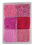 #7: eshoppee 2mm (11/0) 300 gm glass beads, seed beads for jewelery making art and craft diy project kit (11/0 pink)