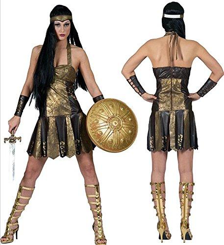Seiler24 Römische Kriegerin Kostüm für Damen Größe 36-38