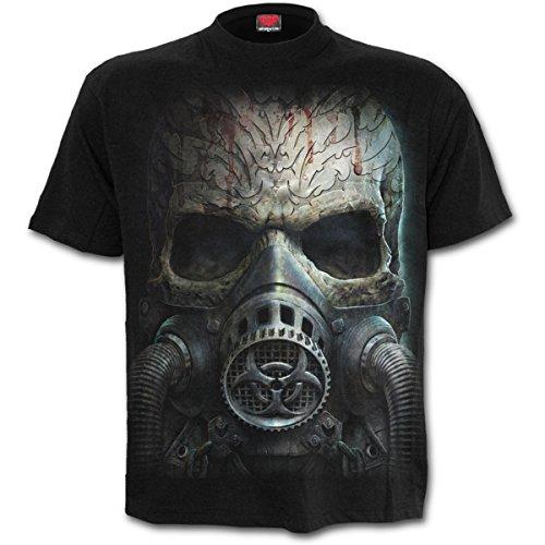 Spirale - BIO SCHÄDEL - Männer Kurzarm T-Shirt (XXL) (Bio-baumwoll-t-shirt Schädel)