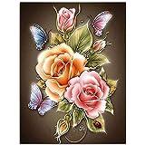 iDream Home Decoration 5D Diamond Painting Rhinestone Rose Flower DIY Mosaic Wall Decor