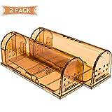 Humane Smart Mouse Trap Live Catch Und Release Einfach Zu Setzen Wiederverwendbare Cage Box, Für Kleine Ratte/Maus / Hamster/Maulwurf Catcher, Die 2 Pack Funktioniert