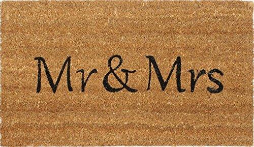 *1art1 90437 Spaß – Mr & Mrs Fußmatte Türmatte 70 x 40 cm*