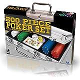 SPINMASTER 6036777Poker juego en caso de aluminio (200unidades)