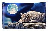 Geldbörse mit Wolf Motiv | Quiet Reflection by Lisa Parker | Wölfe Fantasy Geldbeutel Portemonnaie