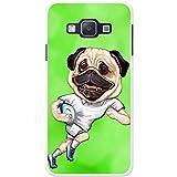 England Rugby Mops mit Ball Hartschalenhülle Telefonhülle zum Aufstecken für Samsung Galaxy A3 (A300F/FU)