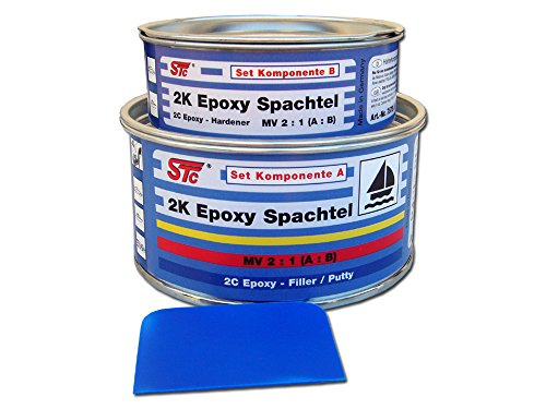 STC 2K Epoxy Spachtelmasse Set 600 g Bootsspachtel Set Epoxyspachtel (Boot Spachtel)