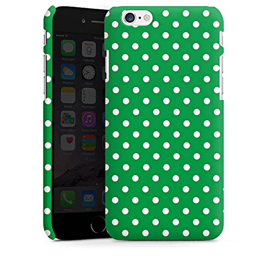 Apple iPhone 5 Housse étui coque protection Motif Motif Polka points Cas Premium mat