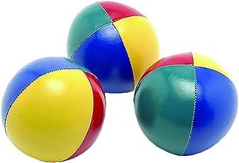 SAHNI SPORTS Non-Woven-Fabric Juggling Ball, Set of 3, Multi-Color