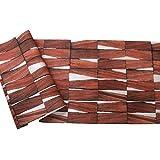 YUELA Holz Textur Tapete Retro skandinavischen Wallpaper ins Hintergrundbild Südostasiatischen Schlafzimmer Wohnzimmer Wand,470803 Kastanien Rot, nur das Hintergrundbild